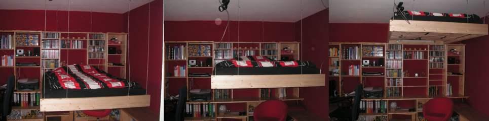 h ngende betten 34 tolle design ideen f r einmaligen. Black Bedroom Furniture Sets. Home Design Ideas