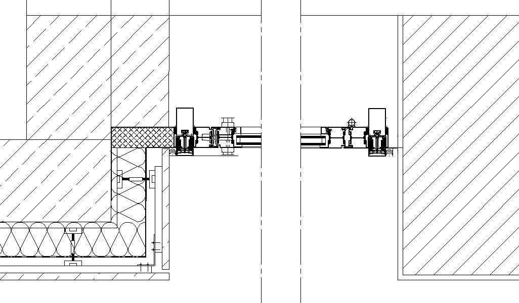 Türanschluss detail außentür  Anschluss P/R Fassade zwischen zwei Gebäuden - tektorum.de