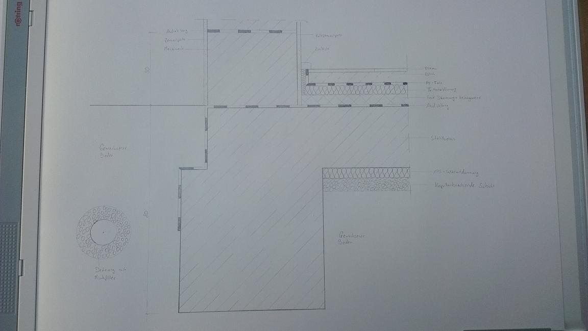 Relativ Detail Bodenplatte mit Streifenfundament - tektorum.de MP21