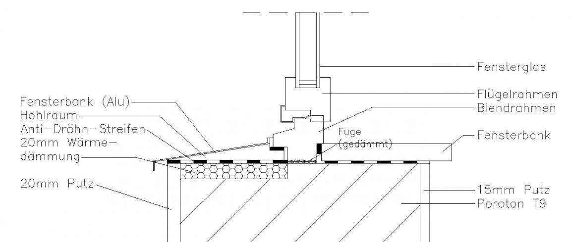detail fensteranschluss. Black Bedroom Furniture Sets. Home Design Ideas