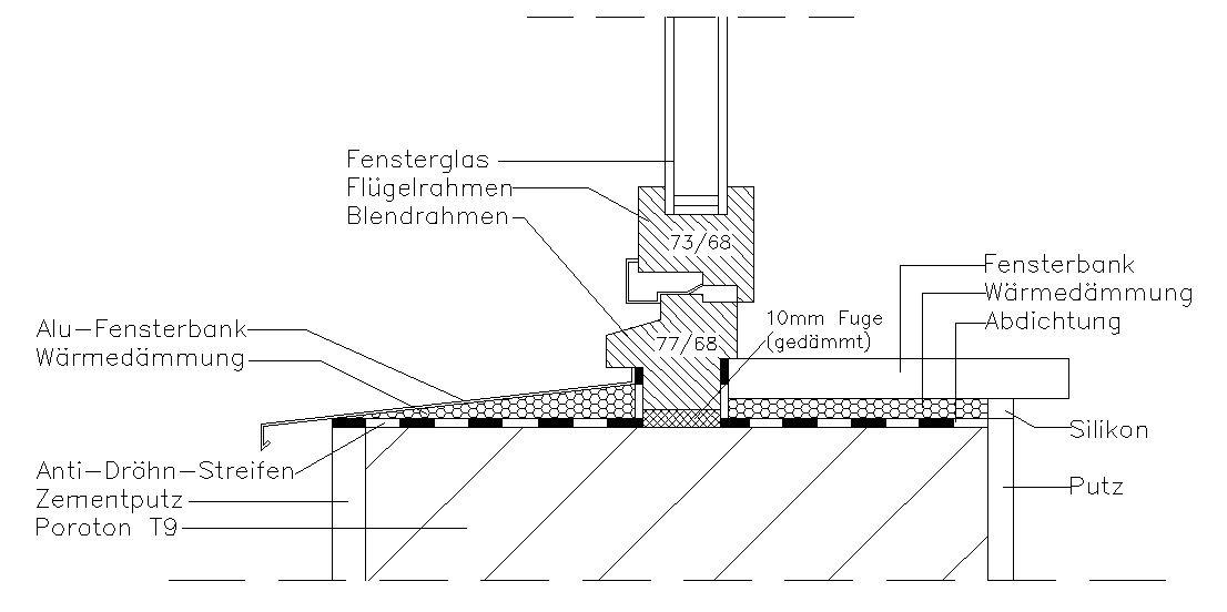 Fensterbank außen detail  Detail Fensteranschluss - Seite 2 - tektorum.de