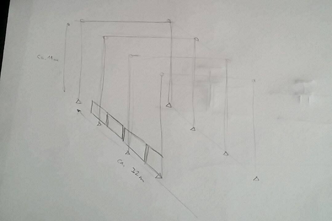 Stahlrahmenkonstruktion mit 50cm Stampfbeton verkleiden. - tektorum.de