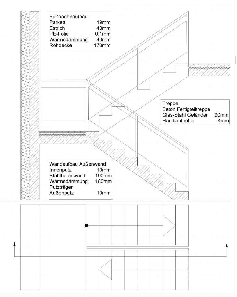 innenausbaukonstruktion treppendetail. Black Bedroom Furniture Sets. Home Design Ideas