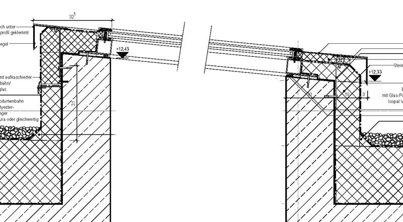 Flachdach fenster detail  Total verzweifelt: Detail eines Oberlichtes am Rande eines ...