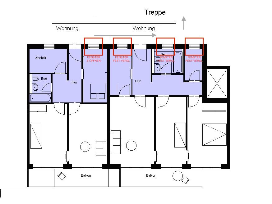 fenster aufgrund flucht und rettungsweg nicht m gl. Black Bedroom Furniture Sets. Home Design Ideas
